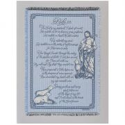 "Throw Blanket 48 x 68"" Double Layer Cotton, 23rd Psalm"