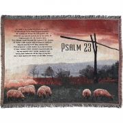 Throw Blanket Cotton 52x68 inch Psalm 23