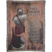 Throw Cotton 52x68 inch Full Armor of God Ephesians 6:14-17