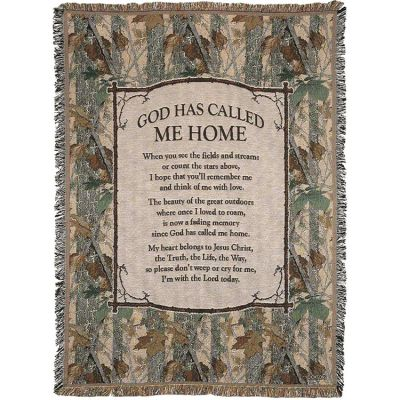 Throw Cotton 52x68 inch God Has Call Me Home - 603799534918 - FAB-3084