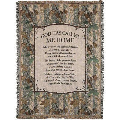 Throw Cotton 52x68 inch God Has Call Me Home - 603799534918 - FAB-3084