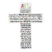 Wall Cross Porcelain 9.5 Inch ABC's of Christianity (Pack of 2)