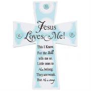 Wall Cross Wood Boy Jesus Loves Me Pack of 3