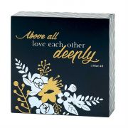 Wall Plaque 1 Peter 4:8 Above All Love Each Other Deeply (Pack of 2)