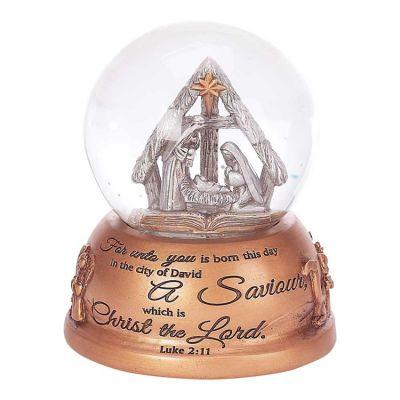 Water globe Resin For Unto You Luke 2:11 Plays O Holy Night - 603799081542 - CHMUS-803