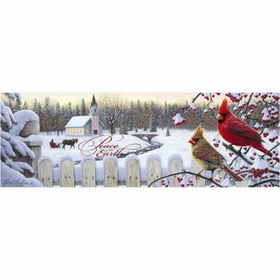 Winter Crimson Morning Plaque Peace on Earth - 603799273411 - CHPLK514-101