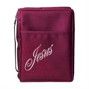 X-large Burgundy Names of Jesus Bible Cover