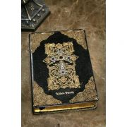 Jeweled Family Leather Bible with Amethyst Crystals KJV