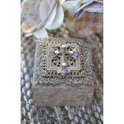 Swarovski Crystal Cross Square Stone Box