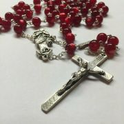 Our Lady Undoer of Knots Red Rosary - Ghirelli