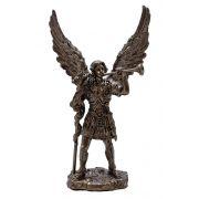 Archangel Gabriel In Cold Cast Bronze, 4 Inch Statue Italian