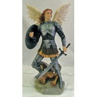 Archangel Michael, Painted In Full Color, 12.75 Inch Statue