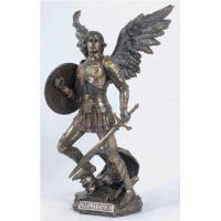 Archangel Michael Statue, Cold-Cast Bronze, 12.75 inch