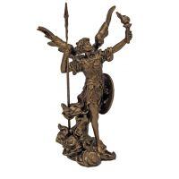 Archangel Uriel, Cast Bronze, Painted, 4in. Statue