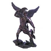 Archangel Uriel Statue, Cold-Cast Bronze, Painted, 13.25in. Statue