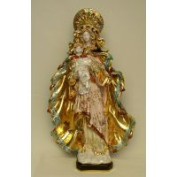 Madonna & Child, Painted Ceramic, 23 Inch Statue