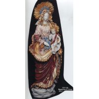Madonna & Child, Painted Ceramic Statue, 30 Inch