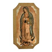 Our Lady Of Guadalupe Florentine Plaque, 5x9 Inch
