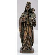 Our Lady Of Mount Carmel, Painted Cold-Cast Bronze, 10in. Statue