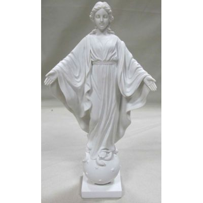 Our Lady Of The Smiles Statue, White, 9 Inch -  - SR-75217-W