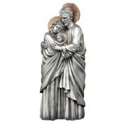 Holy Family, 1 pc., Pewter Style Finish, Golden Highlights, 10""