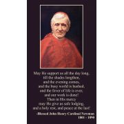Blessed John Henry Cardinal Newman Prayer Card - (Pack of 50)