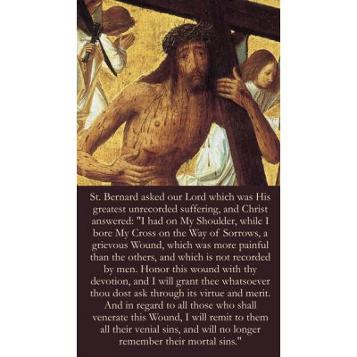 Shoulder Wound of Christ Prayer Card Wallet Size - (Pack of 50) -  - Card#196