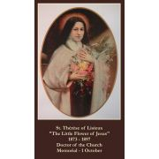 St. Therese Novena Prayer Card Wallet Size - (Pack of 50)
