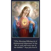 Morning Offering Prayer Card Wallet Size - (Pack of 50)