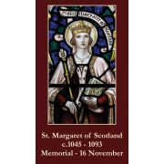 St. Margaret of Scotland Prayer Card Wallet Size - (Pack of 50)