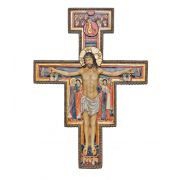 San Damian crucifix, hand-painted color, 10""