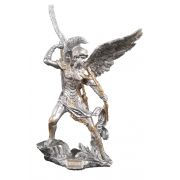 Archangel Uriel, Pewter Style Finish, Golden Highlights, 9""