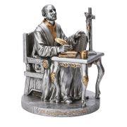 """St. Ignatius-Loyola, Pewter Style Finish 6.5"""""""