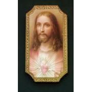 Sacred Heart Of Jesus Florentine Plaque, 4.75x9 Inch