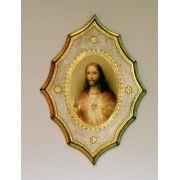 Sacred Heart Of Jesus Florentine Plaque, 7.5x10 Inch