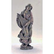 Saint Cecilia, Cast Bronze, 8.5 Inch Statue
