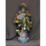 Saint Jude Wall Plaque Painted Ceramic, 21 Inch