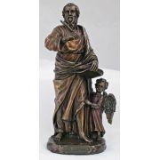 Saint Matthew, Veronese, Painted Cast Bronze, 8in. Statue