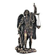 Saint Michael-Scales/Justice, Cold Cast Bronze, 11 Inch Statue