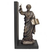Saint Peter Bookend, Cast Bronze, Painted, 4.75x9.5in.