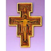 San Damian Cross w/Raised Border, 10 Inch