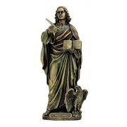 St. John, Veronese, Lightly Painted Cold Cast Bronze, 8 Inch Statue