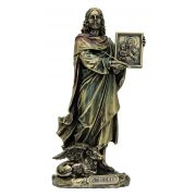 St. Luke, Veronese, Lightly Painted Cold Cast Bronze, 8 Inch Statue
