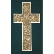 True Church Cross, Antiqued Alabaster, 12 Inch
