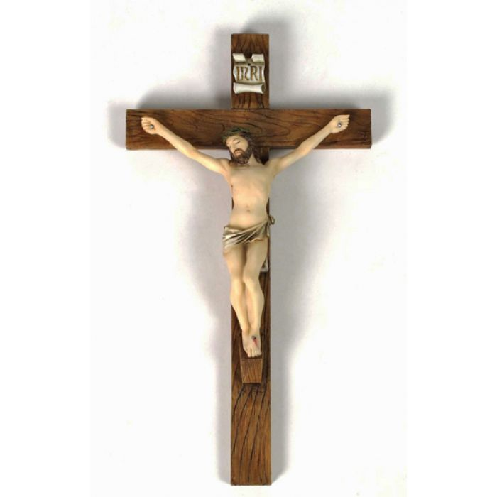 Crosses Crucifixes Wall Crucifix Painted Colors 10 Inch