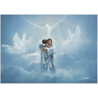Welcome Home - Hugging Jesus - Print by Danny Hahlbohm -  - welcome home-87