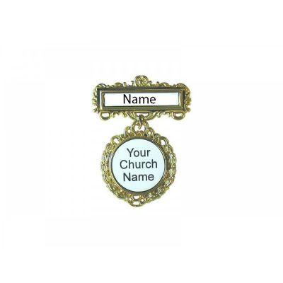 Fancy Round Custom Badge Magnet - 788200908127 - 90812