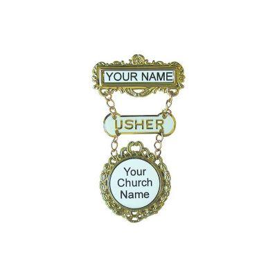 Fancy Round Usher Dogbone Custom W/magnet - 788200908165 - 90816