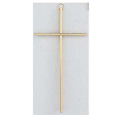10 inch Plain Solid Brass Cross 735365585359 - C510