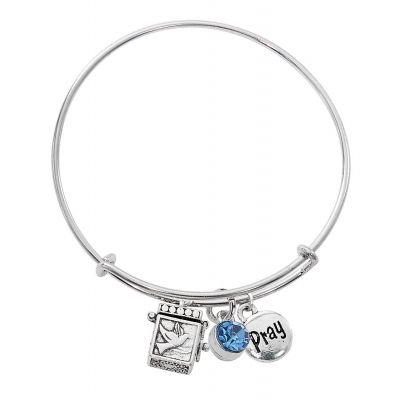 Zircon Prayer Box Bangle Bracelet 735365514878 - BN639L-ZR